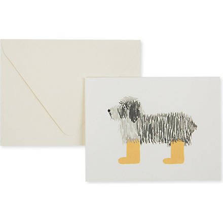 RIFLE PAPER Shaggy dog card