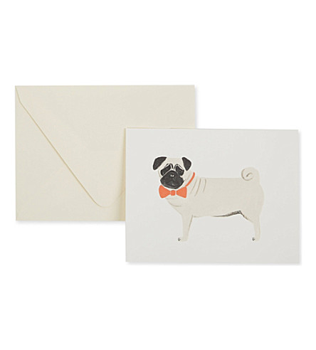 RIFLE PAPER Pug card