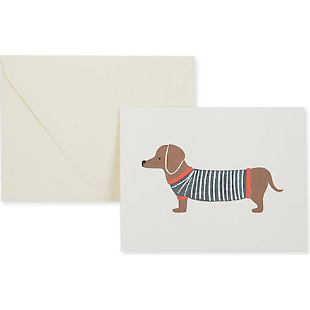 RIFLE PAPER Dachshund card
