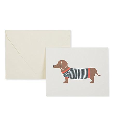 RIFLE PAPER Dachshund card