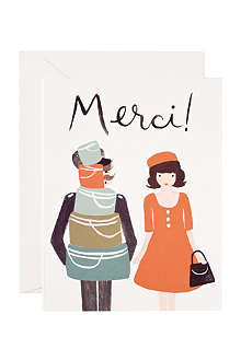 RIFLE PAPER Merci thank you card
