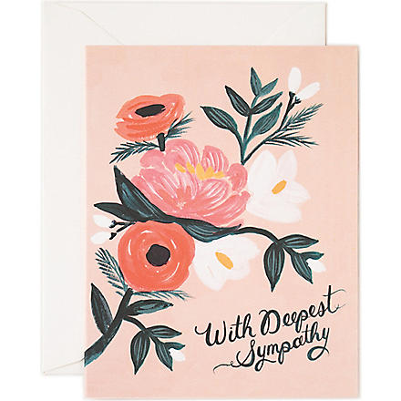 RIFLE PAPER With Deepest Sympathy card