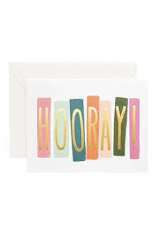 RIFLE PAPER Hooray! card