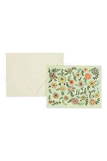 RIFLE PAPER Ella thank you card