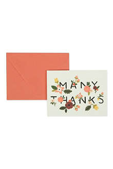 RIFLE PAPER Ava Many Thanks thank you card