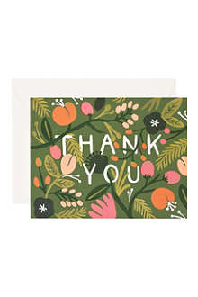 RIFLE PAPER Forest thank you card