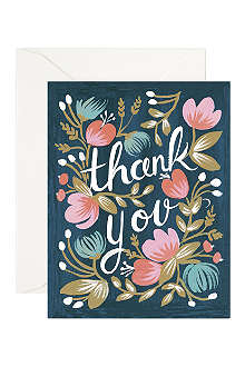 RIFLE PAPER Midnight garden thank you card