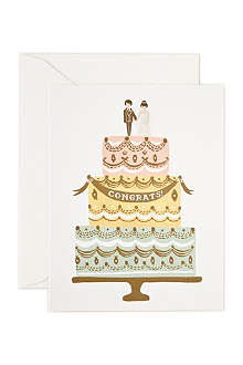 RIFLE PAPER Congrats Wedding Cake card