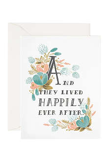 RIFLE PAPER Happily ever after card