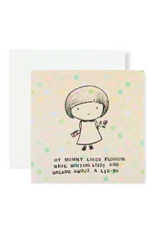 LOVE FROM LEMONADE My mummy likes flowers card
