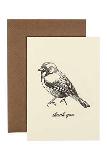 KATIE LEAMON Bird thank you card