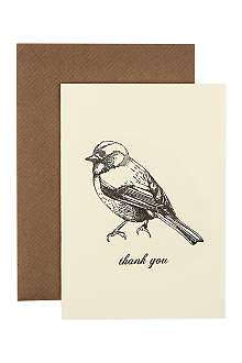 KATIE LEAMON Bird thank you card