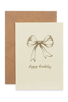 KATIE LEAMON Birthday bow card