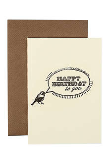KATIE LEAMON Happy birthday bird card