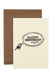 KATIE LEAMON Happy birthday bird card