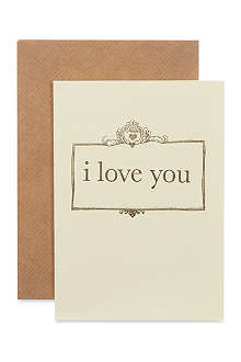KATIE LEAMON I love you card