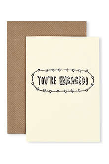 KATIE LEAMON You're Engaged card