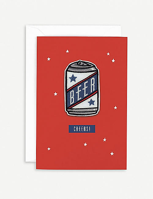 HOTCH POTCH Beer patch birthday card 18 x 15.6cm