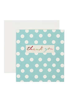 CAROLINE GARDNER Polka dot thank you card