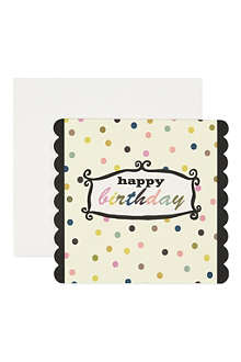 CAROLINE GARDNER Polka dot happy birthday card