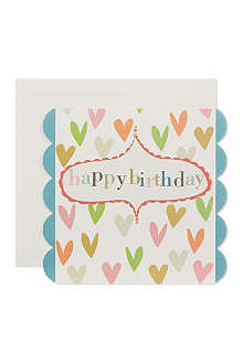 CAROLINE GARDNER Happy birthday hearts card