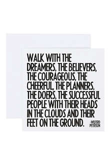 QUOTABLES Walk With The Dreamers card