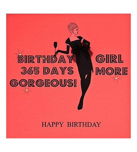 FIVE DOLLAR SHAKE 365 days more gorgeous birthday card