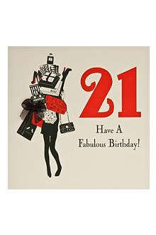 FIVE DOLLAR SHAKE 21st Birthday card