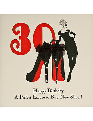 FIVE DOLLAR SHAKE 30th Birthday card