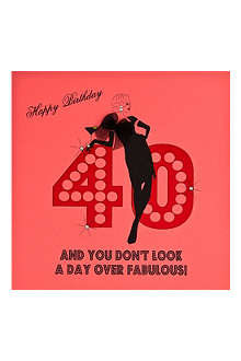 FIVE DOLLAR SHAKE 40th  Birthday card