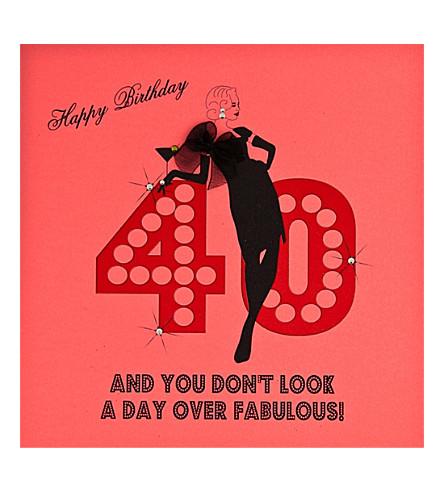 FIVE DOLLAR SHAKE 40th  Birthday card