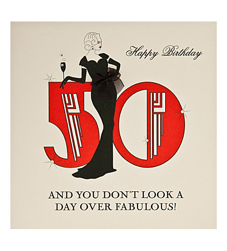 FIVE DOLLAR SHAKE Fabulous 50th birthday card