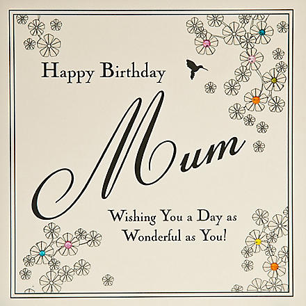 FIVE DOLLAR SHAKE Wonderful Mum birthday card