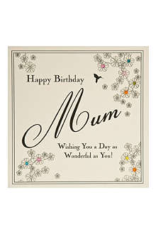 FIVE DOLLAR SHAKE 'Happy Birthday Mum' card