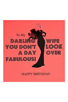 FIVE DOLLAR SHAKE Darling Wife Happy birthday card
