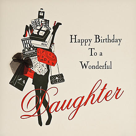 FIVE DOLLAR SHAKE Wonderful Daughter birthday card