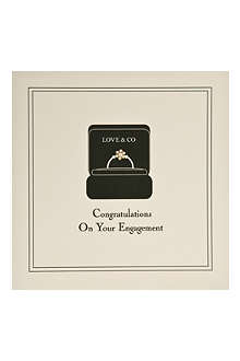 FIVE DOLLAR SHAKE Ring engagement card