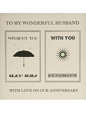FIVE DOLLAR SHAKE Husband with you without you anniversary card