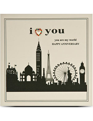 FIVE DOLLAR SHAKE I love you anniversary card