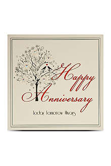 FIVE DOLLAR SHAKE Happy anniversary crystal tree card
