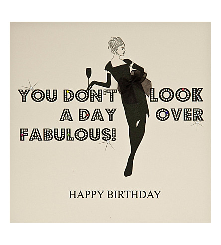 FIVE DOLLAR SHAKE You don't look a day over fabulous birthday card