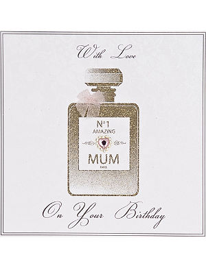 FIVE DOLLAR SHAKE No.1 Amazing Mum perfume bottle birthday card