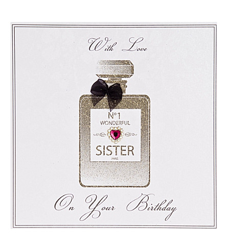 FIVE DOLLAR SHAKE No.1 Wonderful Sister perfume bottle birthday card