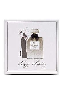FIVE DOLLAR SHAKE No 1 birthday girl perfume card