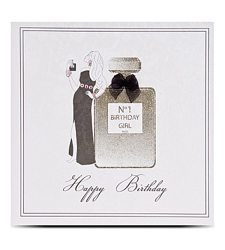 FIVE DOLLAR SHAKE No 1 birthday girl perfume card