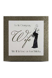 FIVE DOLLAR SHAKE Gorgeous Wife birthday card