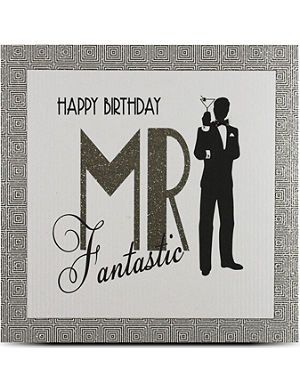 FIVE DOLLAR SHAKE Happy birthday Mr fantastic large card