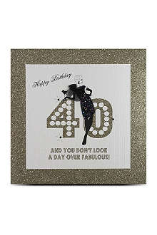FIVE DOLLAR SHAKE 40th birthday large card