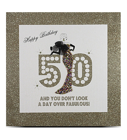 FIVE DOLLAR SHAKE 50th birthday large card