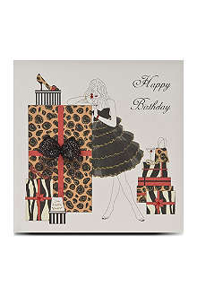 FIVE DOLLAR SHAKE Happy Birthday shoe box card